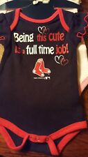 Boston Red Sox Baby girl 3 pieces creeper set