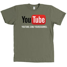 YouTube Channel CUSTOM URL Shirt - YOUR CHANNEL ON A SHIRT - MANY COLORS