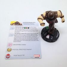 Heroclix Uncanny X-Men set Juggernaut #030 Uncommon figure w/card!