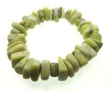 Large Iona Celtic Scottish Green Marble Tumbled Bracelet
