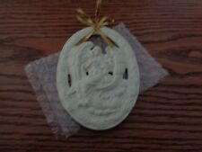 Partylite Oval Porcelain Angel Christmas Ornament