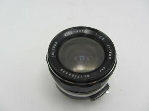 Soligor Wide-Auto F2.8 28mm T4 Minolta MD Mount Lens For SLR/Mirrorless Cameras