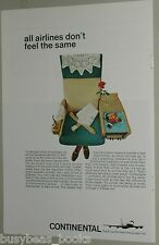 1966 Continental Airlines advertisement page, fancy airplane seat
