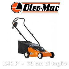 Rasaerba elettrico Oleo Mac K40 P a spinta con manico in due pezzi facile uso