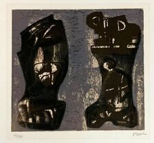 """Henry Moore """"Ideas for Metal Sculpture V"""" Original Lithograph S/N"""