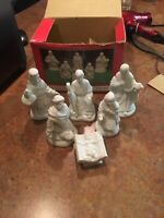 Windsor Collection Nativity Set of 6 Porcelain Mary Joseph Jesus Wise Men