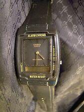 Nice Men's Casio Alarm Chrono Dual Display Black Watch AQ-47 756