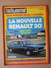Auto-Journal n°02-75, Mercedes 240D 3.0 w115, Renault 30, Renault 6 TL vs. Simca