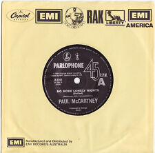PAUL McCARTNEY - NO MORE LONELY NIGHTS Very rare 1984 OZ Single Release! M-