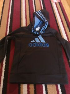 Adidas Hooded Top Jumper Boys Age 4 New