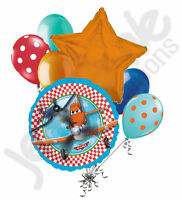 7 pc Disney Planes Happy Birthday Balloon Bouquet Party Decoration Dusty Skipper