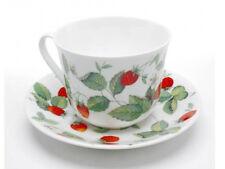 Roy Kirkham Jumbotasse Alpine Strawberry Erdbeeren inkl. Untertasse große Tasse