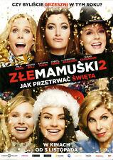 Mila Kunis Christine Baranski - A Bad Moms Christmas - Polish promo FLYER