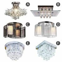 Crystal Chandelier Ceiling Mount Pendant Light Lamp Modern Illumination Fabric