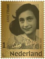 Netherlands 2020 Anne Frank **24 carat GOLD** stamp MNH in box from postNL