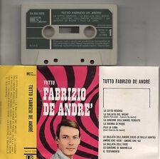 FABRIZIO DE ANDRE musicassetta mc originale KARIM Tutto Fabrizio De Andre 1969