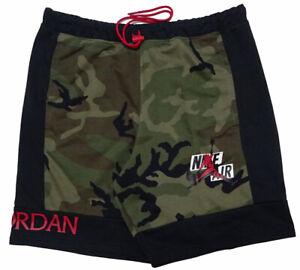 Air Jordan Jumpman Classics Camo Fleece Shorts Green CU2908-222 Size XL NWT
