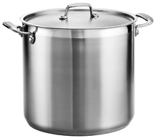 Tramontina Gourmet 20 Qt Tri-ply Base Stainless Steel Covered Stock Pot NEW