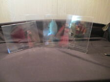 Lot of 4 Clear Acrylic Table Shelf Tent Style Display Sign Brochure Holders