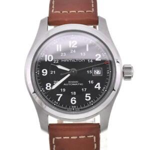 HAMILTON Khaki field H705450 Back schedule Date Automatic Men's Watch R#104774