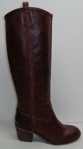 Lucky Brand Size 6 LOOLOO Chipmunk Brown Leather Western Boots New Womens Shoes