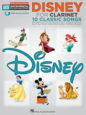 "Easy Instrumental Play-Along-Clarinet ""Disney"" Music Book/Audio-Brand New-Sale!"