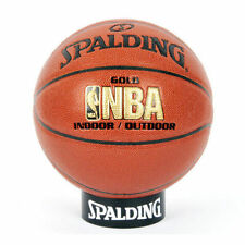 Spalding NBA Gold Basketball Size 7 Indoor Outdoor Street Game Balls Leather UK
