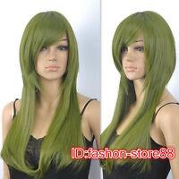 Kagerou Project Actors Kido Tsubomi long green cosplay wig + Free wig cap