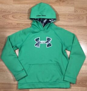UNDER ARMOUR STORM1 Hoodie YXL Loose Green
