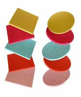 BULK Pack of 5 / 10 Coloured Culpitt Cake Drums Round / Square Boards 12mm Thick