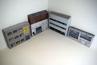 1/76 Card OO Gauge Pack of 4 Industrial Buildings for Model Railways (Set 002)