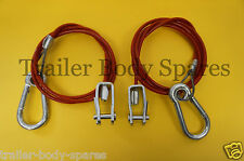 FREE 1st Class Post - 2 x Breakaway Cable with Clevis Pin Ifor Williams Trailers