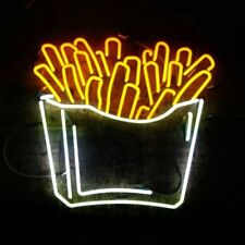 """New French Fries Bar Decor Pub Poster Acrylic Neon Light Sign 24""""x24"""""""