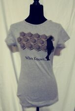 Dr Who Womens Shirt Who Knows Size Medium Grey Tee Short Sleeve