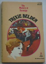 Trixie Belden Kathryn Kenny pb 24 Mystery at Saratoga children's series book