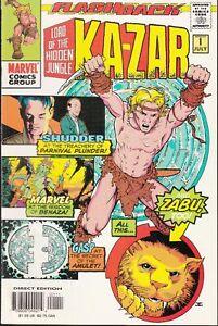 KA-ZAR #1 1997 -SHUDDER, BENAZA, ZABU, AMULET 'LORD OF HIDDEN JUNGLE' KUBERT-c/a