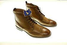 NEW - LA MILANO Men's 'LACE UP CAP TOE ANKLE DRESS BOOTS' Cognac - 9 / 42