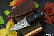 Custom Damascus Steel Skinning Hunting Knife Handmade,G-10 Micarta Handle (D445E