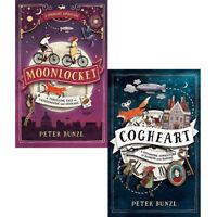 Cogheart Adventures Collection By Peter Bunzl 2 Books Set Moonlocket PACK BRAND