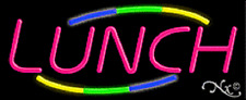 """New """"Lunch"""" 32x13 W/Multicolor Design Real Neon Sign w/Custom Options 10829"""