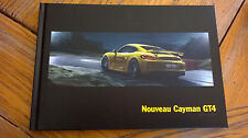 HB Brochure 02/2015 PORSCHE CAYMAN GT4  : catalogue rigide 68 p. FR