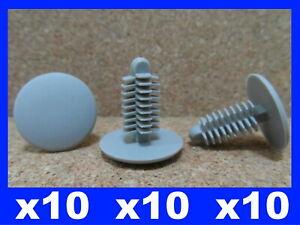 10 grey fir tree trim panel fastener retainer clips
