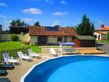 Holiday Gite / Cottage / House with 8m pool in Poitou-Charente, France JULY