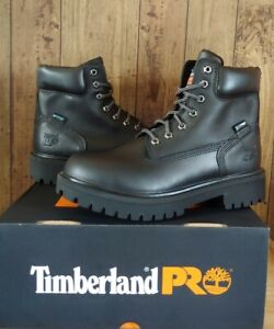 Timberland PRO Mens Direct Attach Work Boots Size 9.5 Black 26038 Steel Toe $165