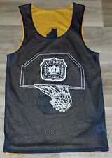 66715740 VTG DETROIT POLICE Department ATHLETIC LEAGUE Reversible Basketball Jersey  Small
