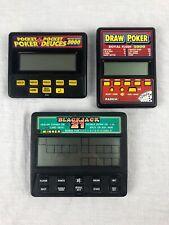 Draw Poker Pocket Poker/Deuces Blackjack 21 Electronic Handheld Game Lot Tested