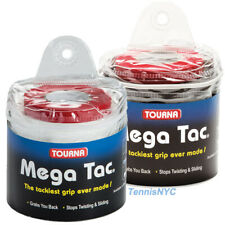 TOURNA Mega Tac Overgrip 30 Pack White, Black, Blue