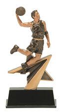 "7"" Male Basketball Star Power Pdu Resin Trophy Free Engraving"