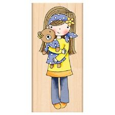 Penny Black Rubber Stamps Mindy Holding A Bear New Stamp 2013
