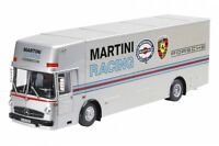 MERCEDES BENZ O 317 LKW Renntransporter Martini 1968 Porsche Schuco 1:18 NEU